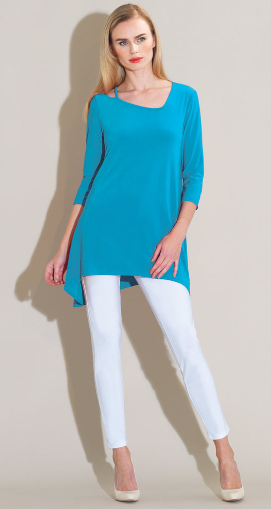 Strap & Angle Neckline Tunic - Turquoise - Final Sale!