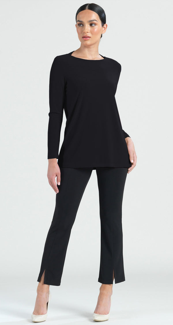 Tri Back Cut-Out Tunic - Black - Final Sale! - Clara Sunwoo