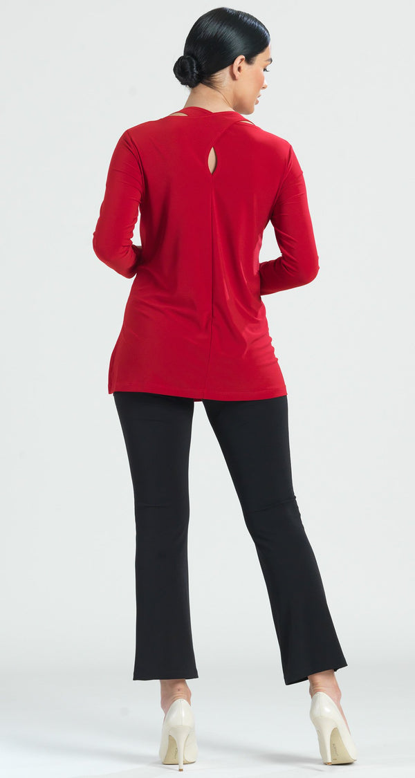 Tri Back Cut-Out Tunic - Red - Final Sale! - Clara Sunwoo