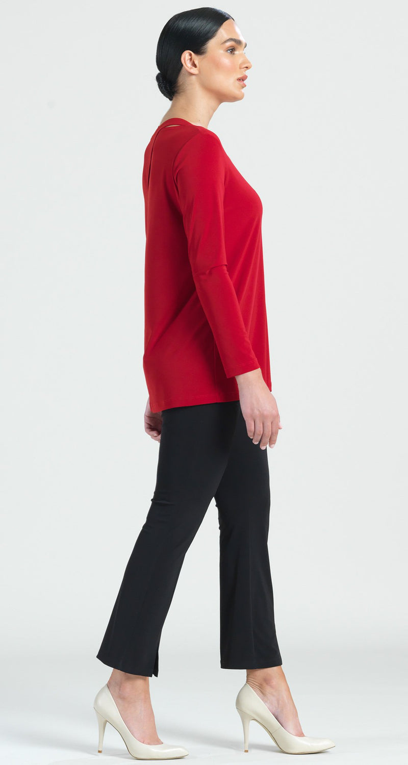 Tri Back Cut-Out Tunic - Red - Limited Sizes XS Only!