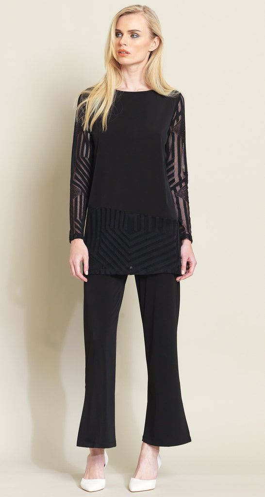 Lace Mesh Tunic - Black - As Seen on Today Show!