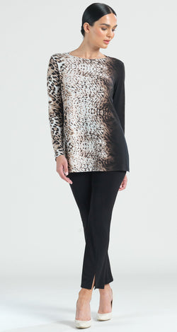 Cheetah Ombre Tri Back Cut-Out Tunic - As Seen on Today Show! - Clara Sunwoo