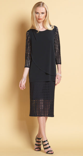 Perforated Sleeve Overlay Tunic