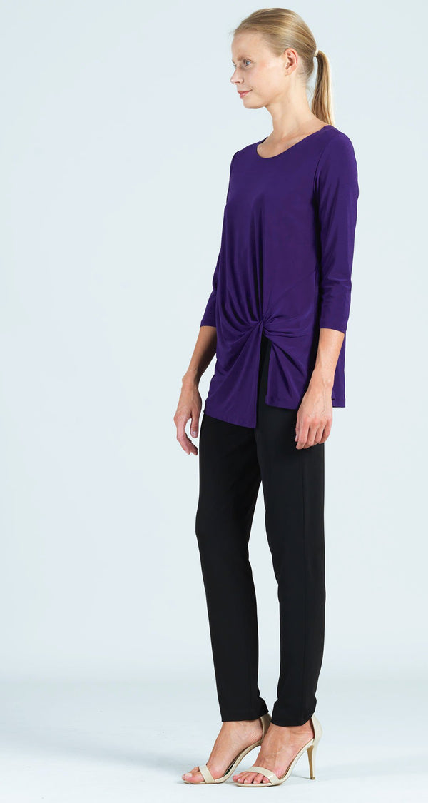 Twist Front Hem Tunic - Purple - Final Sale!