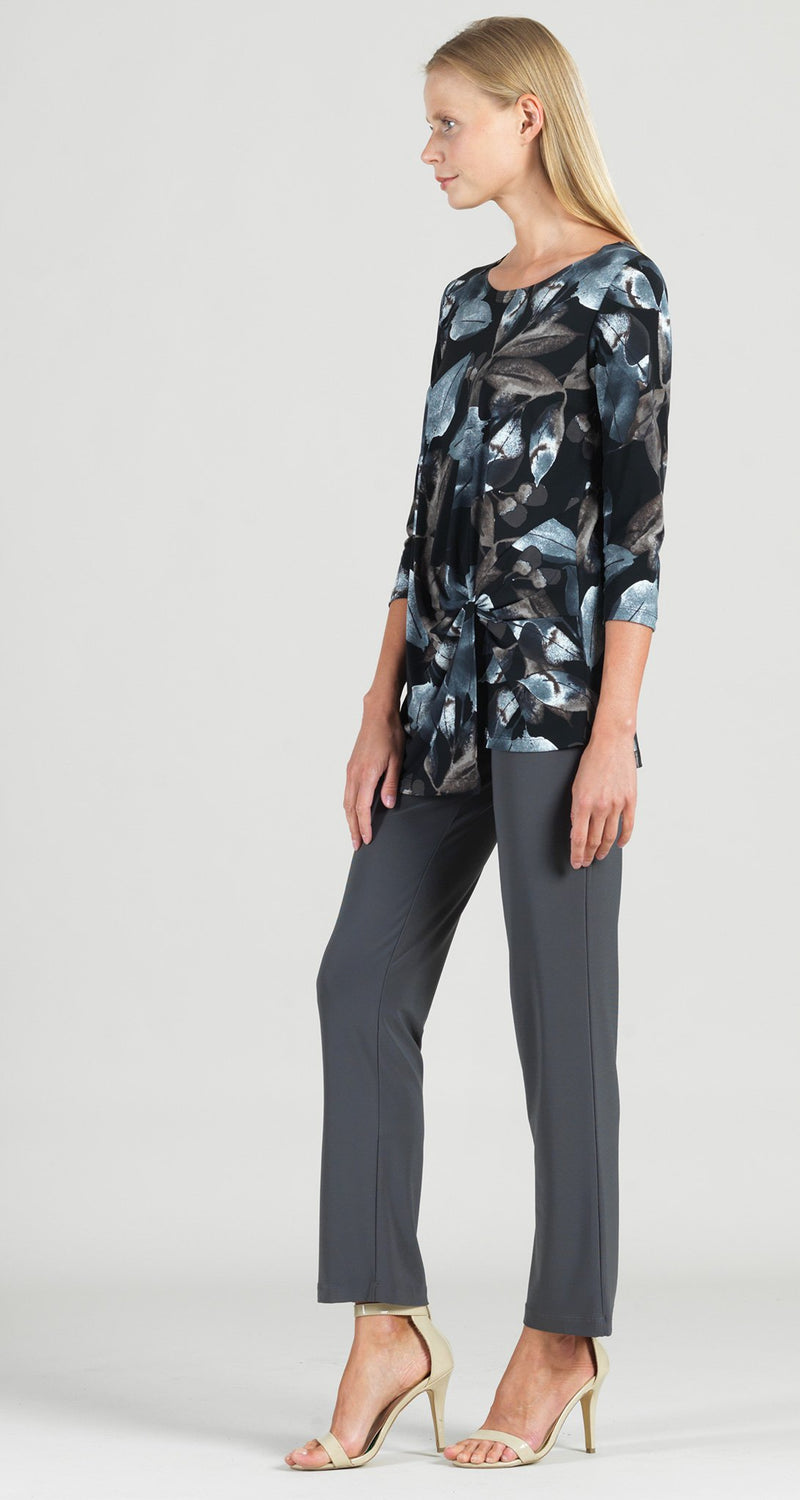 Foliage Watercolor Print Twist Front Hem Tunic - Final Sale!