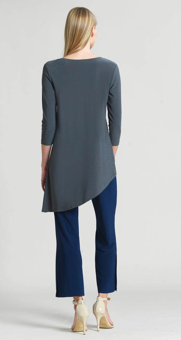 Faux Pull Tie Tunic - Charcoal - Final Sale! - Clara Sunwoo