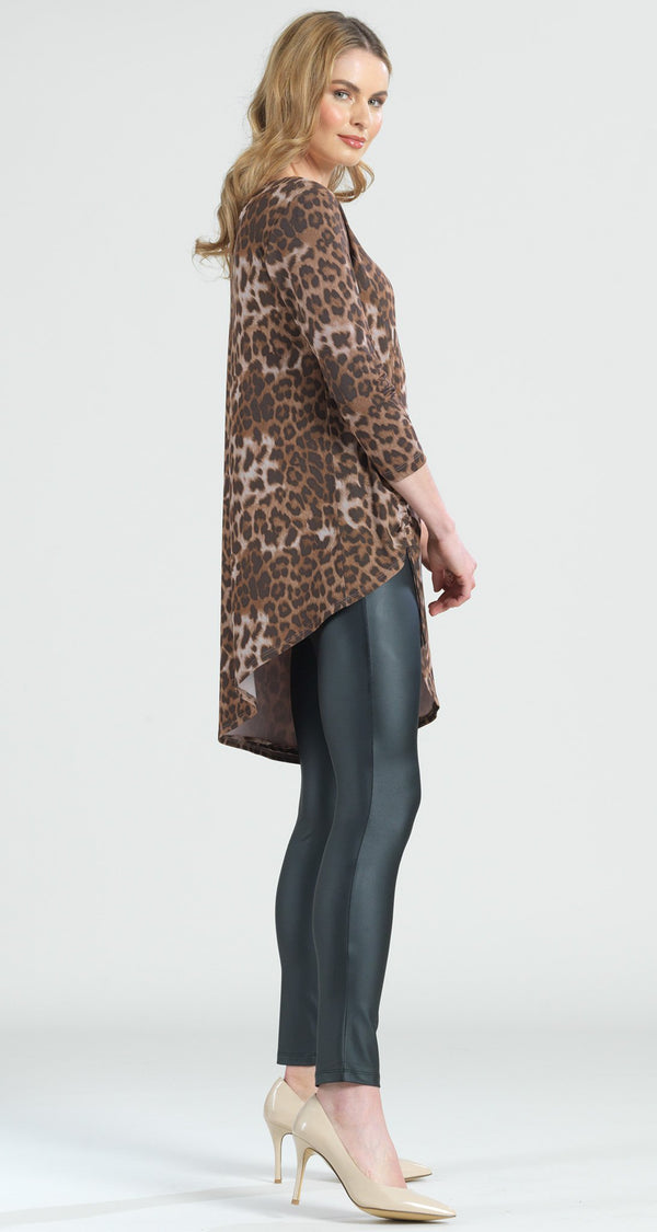 Cheetah Print Faux Pull Tie Tunic - Final Sale! - Clara Sunwoo