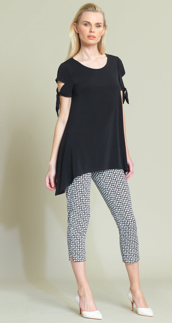 Tie Sleeve Tunic - Black - Final Sale! - Clara Sunwoo