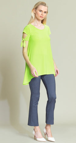 Tie Sleeve Tunic - Lime - Limited Sizes - XS, S, XL