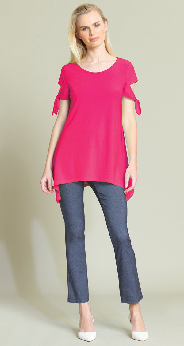 Tie Sleeve Tunic - Pink - Final Sale! - Clara Sunwoo