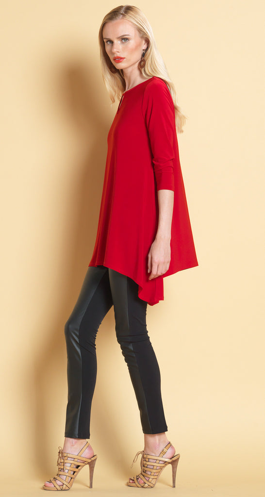 Keyhole Front Tunic - Red - Final Sale!