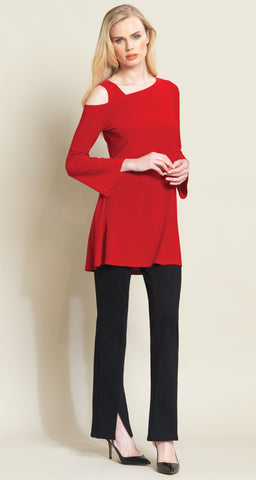 Drop Shoulder Bell Sleeve Tunic - Red - Limited Sizes! - Clara Sunwoo