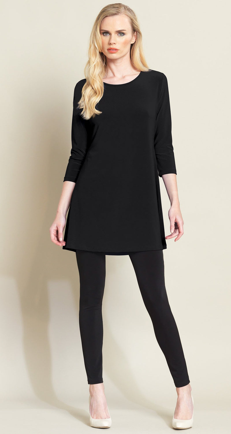Square Cut Out Solid Tunic - Black - Final Sale!
