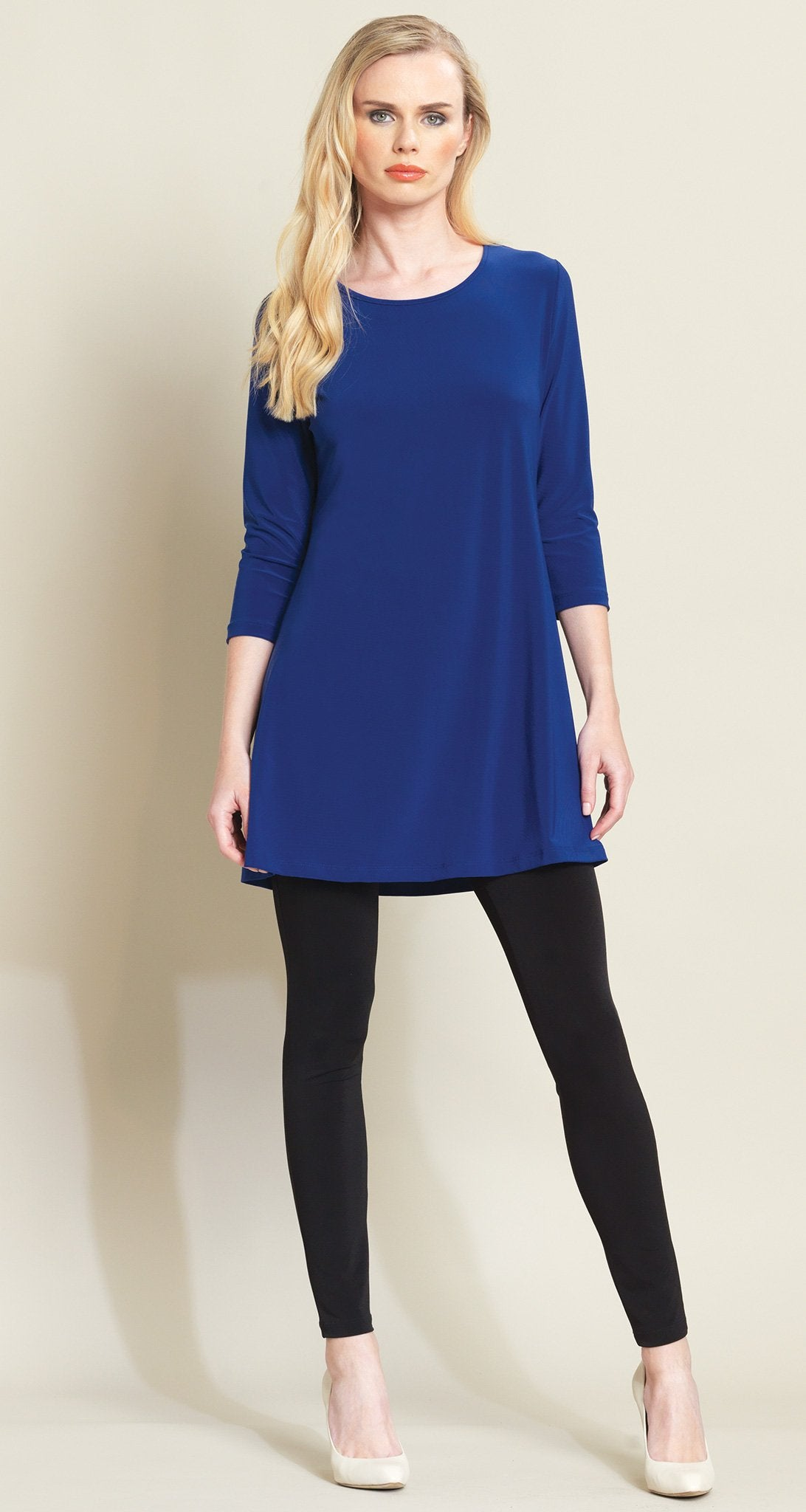 Square Cut Out Solid Tunic - Cobalt - Final Sale