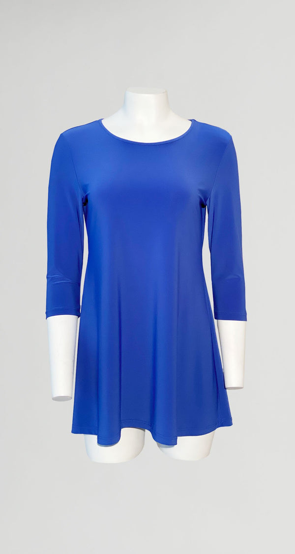 Square Cut Out Solid Tunic - Dazzling Blue -  Final Sale! - Clara Sunwoo