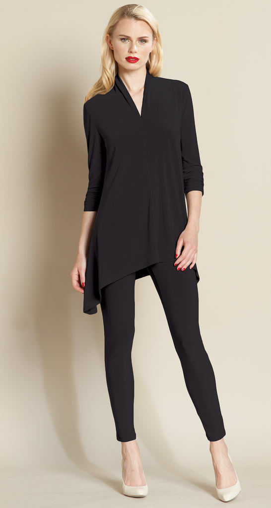 Narrow V-Neck Tunic - 4 Colors