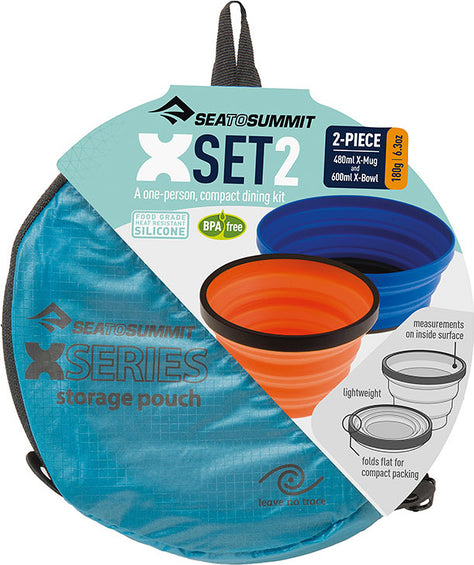Sea to Summit X Set 2-Piece (X-Mug,X Bowl & Storage Pouch)