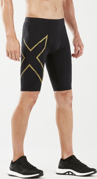 67d4132a Loading spinner 2XU MCS Run Compression Shorts - Men's Black - Gold  Reflective