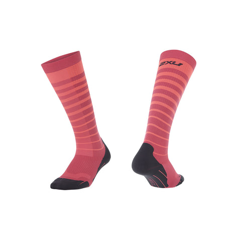 2XU Women's Striped Run Compression Socks