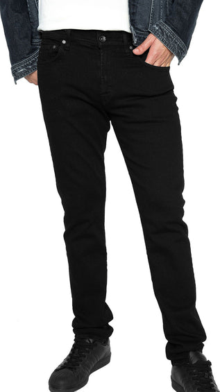 7 For All Mankind Luxe Sport Adrien Slim Tapered with Clean Pocket in Authentic Black - Men's