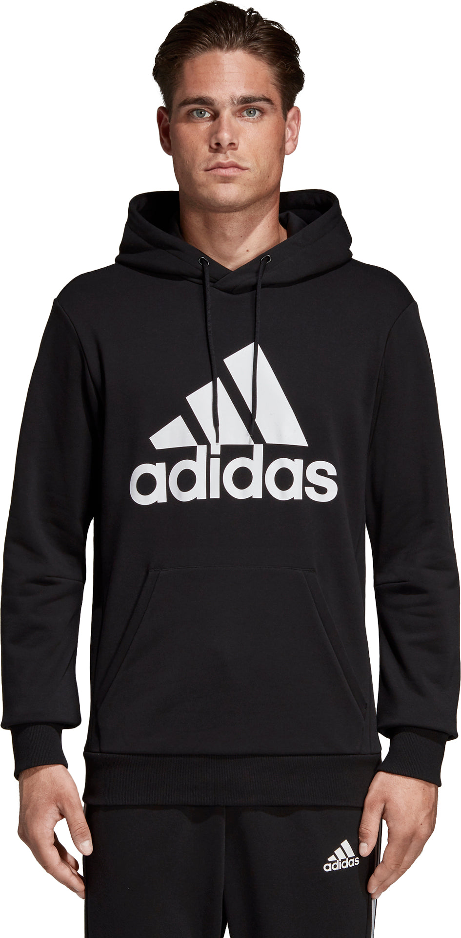 18728b15841ce4 Adidas Must Haves Badge of Sport Hoodie - Men's Black - White ...