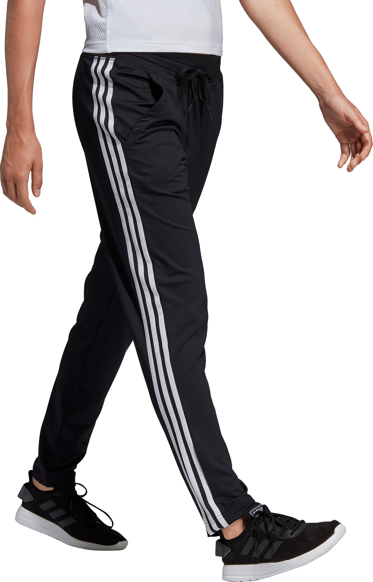 Adidas D2M Straight Fitted Knit 3 Stripes Long Pant Women's