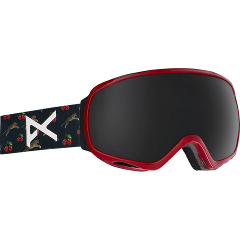 Anon Women's Tempest Ski Goggles - Black Cherries Frame - Dark Smoke Lens
