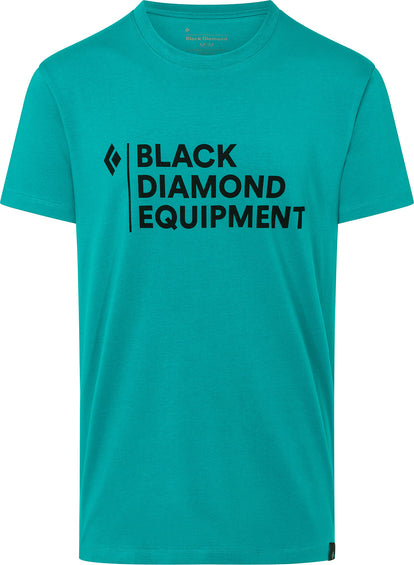 Black Diamond Stacked Logo Tee - Men's