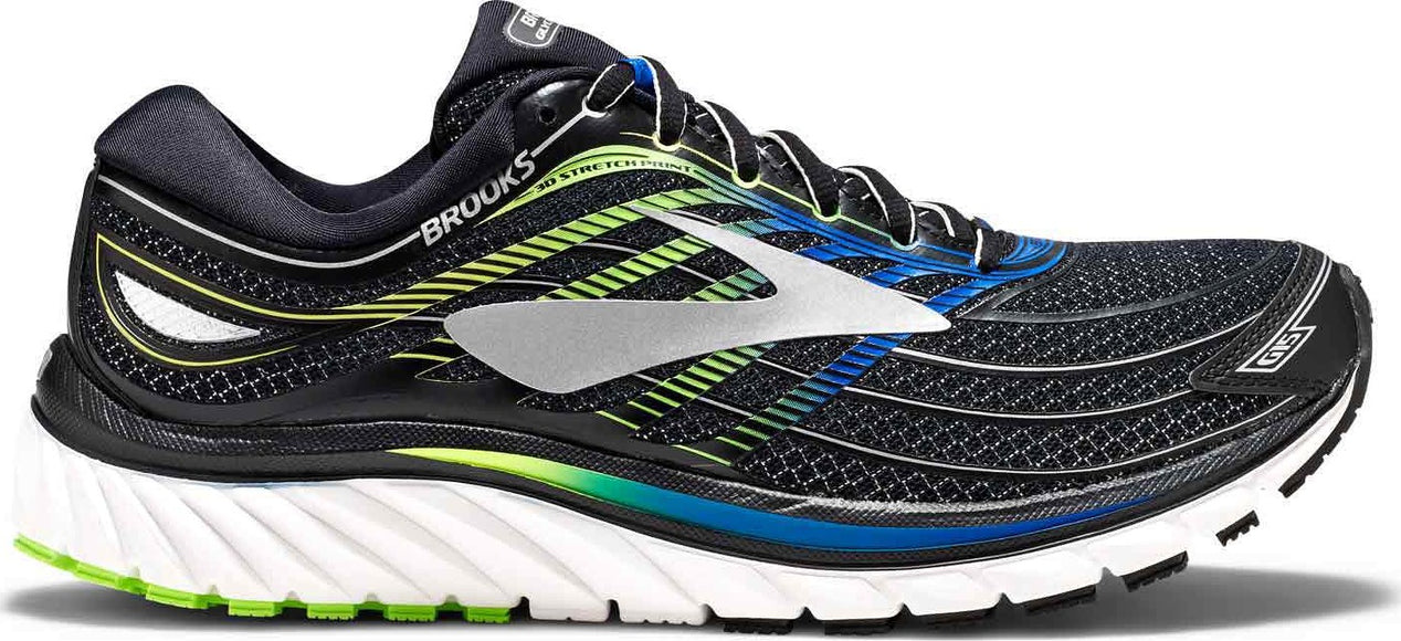 6881251f816 Glycerin 15 Running Shoes - Men s Black - Electric Brooks Blue - Green  Gecko ...