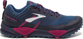 1a628321270 lazy-loading-gif Brooks Cascadia 13 Trail Running Shoes - Women s Ink -  Navy - Pink