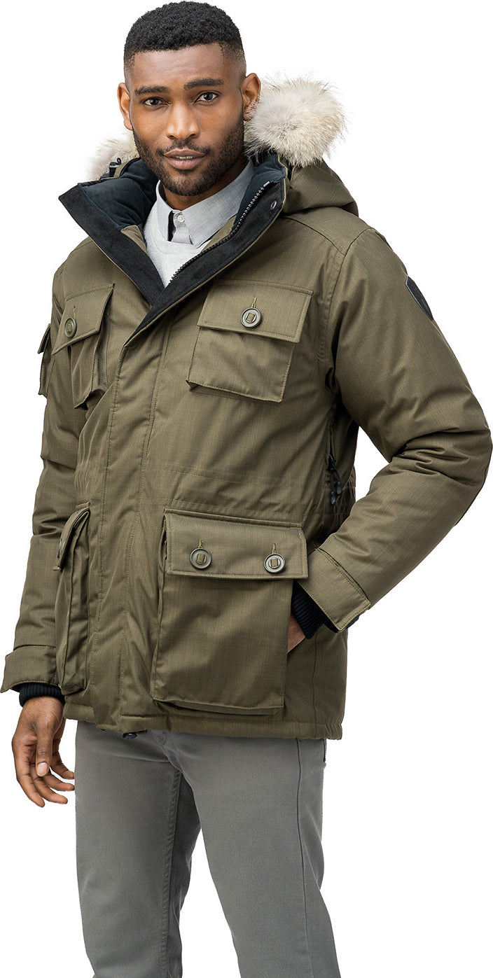 d2cdd1f71bf Barry Down Parka - Men s Crosshatch Army Green ...