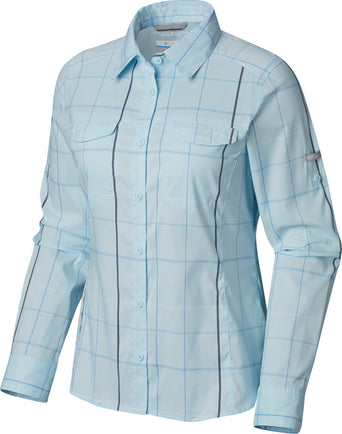 c80767b322a Loading spinner Columbia Silver Ridge Lite Plaid Long Sleeve Shirt -  Women's Pale Blue Large Plaid