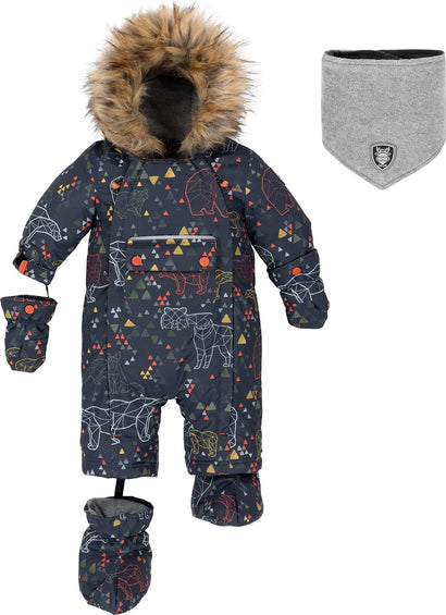 Deux par Deux Printed Ursa Major 1-Piece Snowsuit - Baby Boy