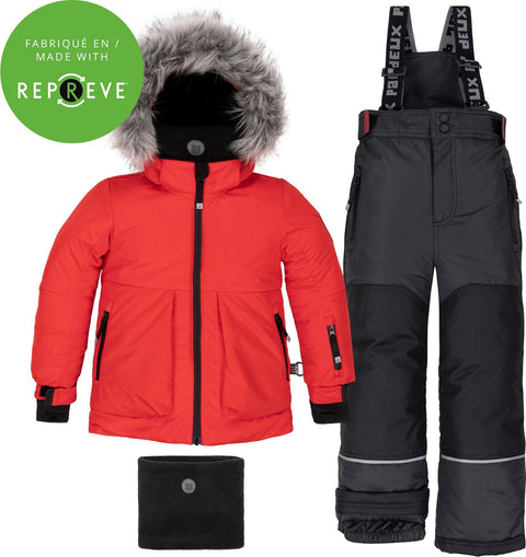 Deux par Deux Printed Interstellar and Red 2-Piece Snowsuit - Little Boys