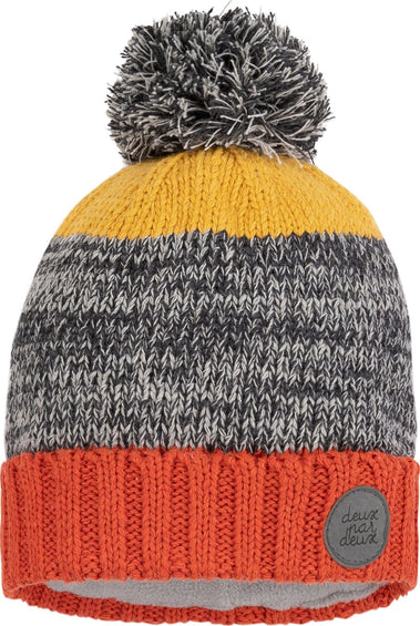 Deux par Deux Heather Grey Ursa Major Lined Wool Hat - Baby