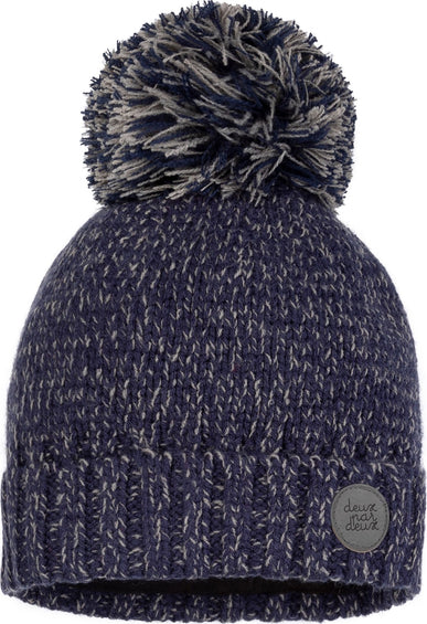 Deux par Deux Mix Blue Interstellar Lined Wool Hat - Baby