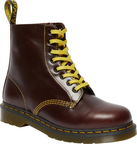 Dr. Martens 1460 Pascal Atlas Oxblood Leather Lace Up Boots - Unisex