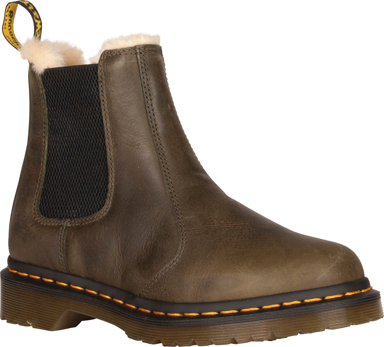buying cheap good looking differently Dr. Martens Leonore Fur Lined Chelsea Boots - Women's