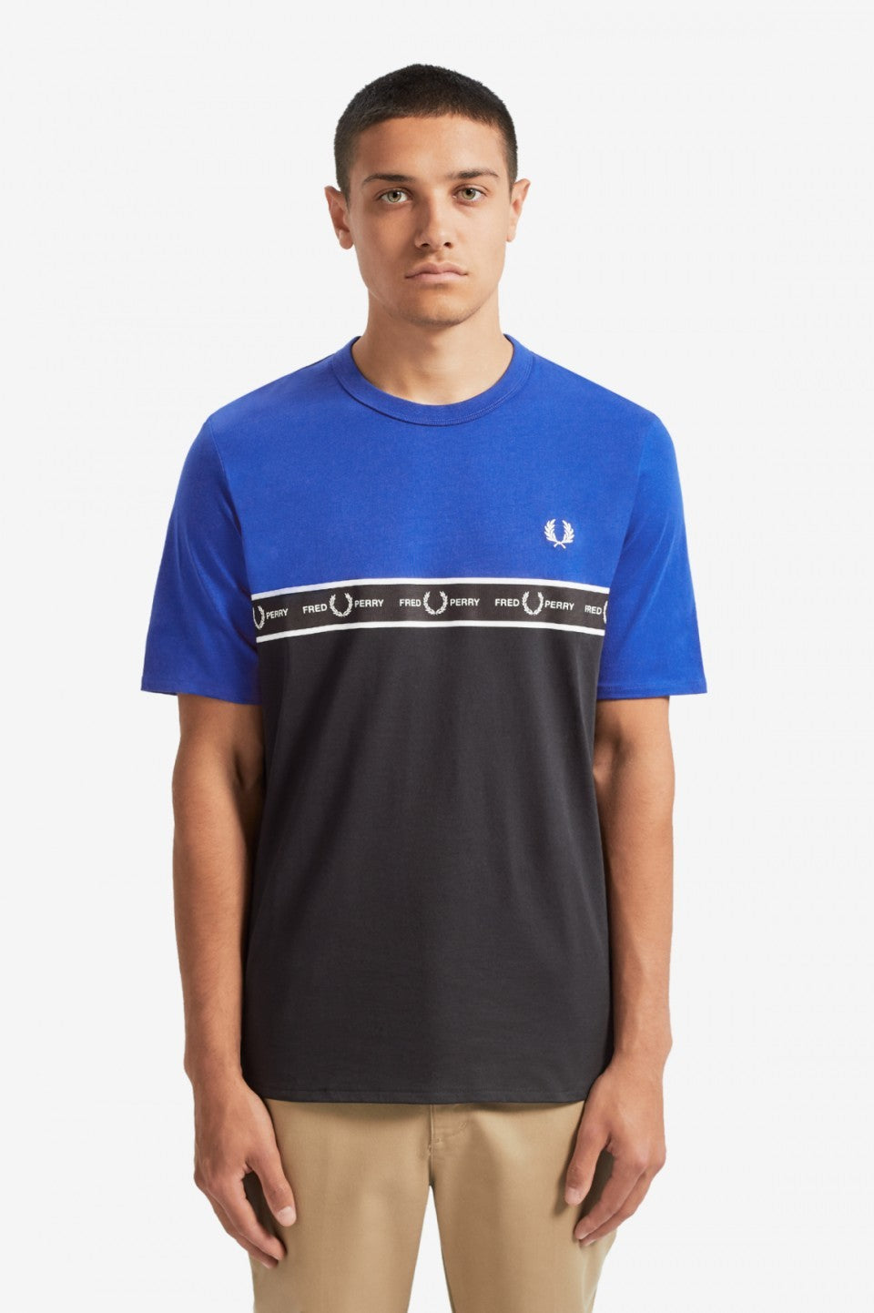 Fred Perry Taped Chest T-Shirt - Men's