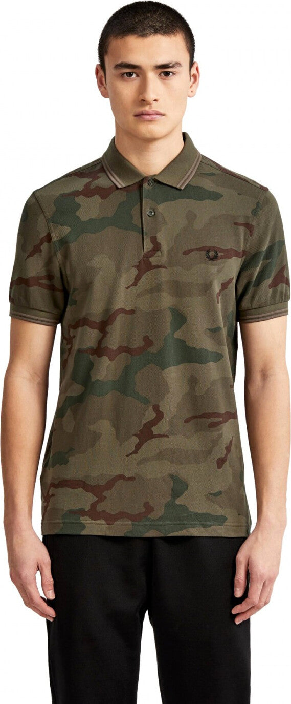 45526447 Fred Perry Camouflage Polo Shirt - Men's | Altitude Sports