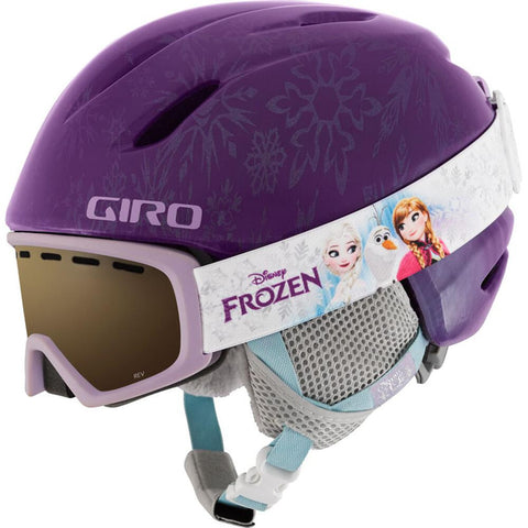 Giro Kid's Launch Purple Disney Frozen Goggle Helmet Combo