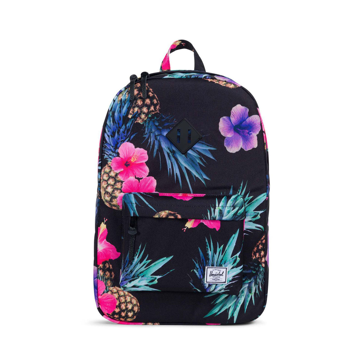 Herschel Supply Co. Heritage Backpack Black Pineapple - Black Rubber ... de3f12a77f696