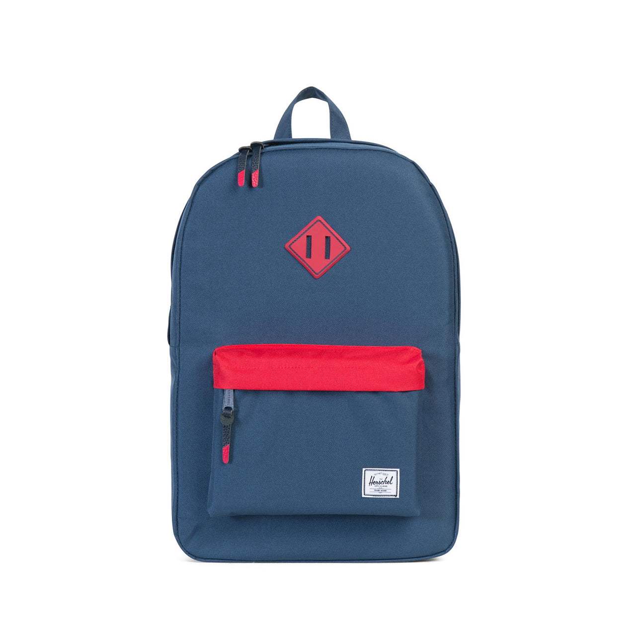 2e65f5196 Herschel Supply Co. Heritage Backpack Navy - Red - Navy Rubber - Red ...