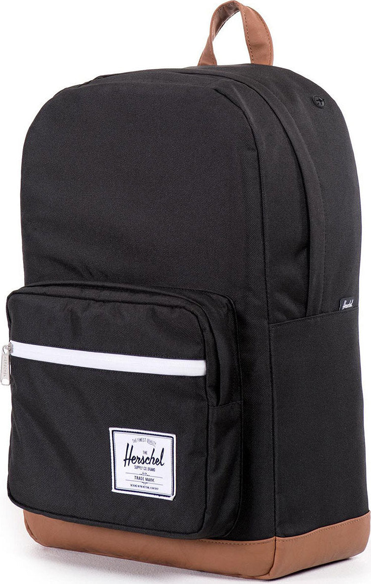 68cb7ec6587 Herschel Supply Co. Pop Quiz Backpack Black - Tan Synthetic Leather ...
