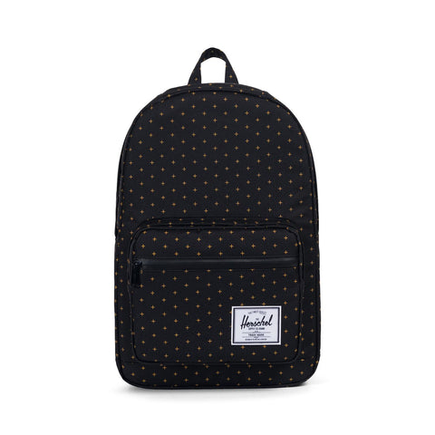 Herschel Supply Co. Pop Quiz Backpack Black Gridlock Gold