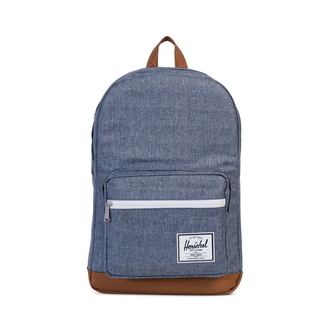 49358c5775c Herschel Supply Co. Pop Quiz Backpack Dark Chambray Crosshatch - Tan  Synthetic Leather