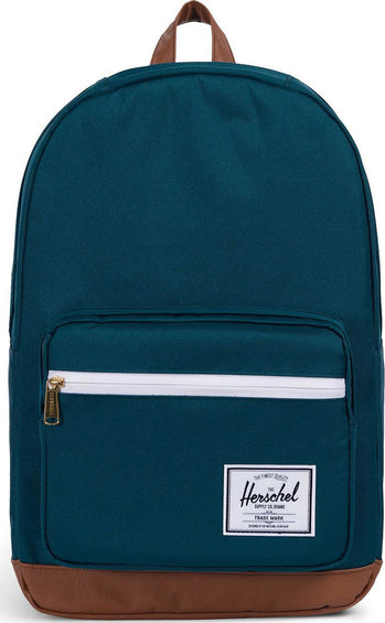 Herschel Supply Co. Pop Quiz Backpack Deep Teal - Tan Synthetic Leather