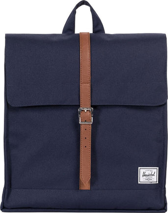 e98b6dbf21498 lazy-loading-gif Herschel Supply Co. City Mid-Volume Backpack Peacoat - Tan  Synthetic Leather