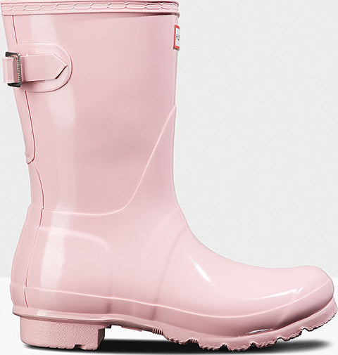 Hunter Original Short Back Adjustable Gloss Rain Boots - Women's