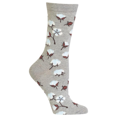 Hot Sox Cotton Bolls Crew Socks - Women's